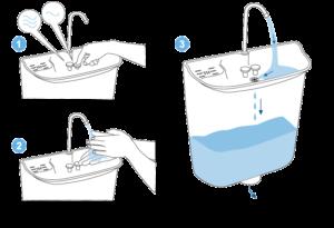 Úsporné WC s umývadlom