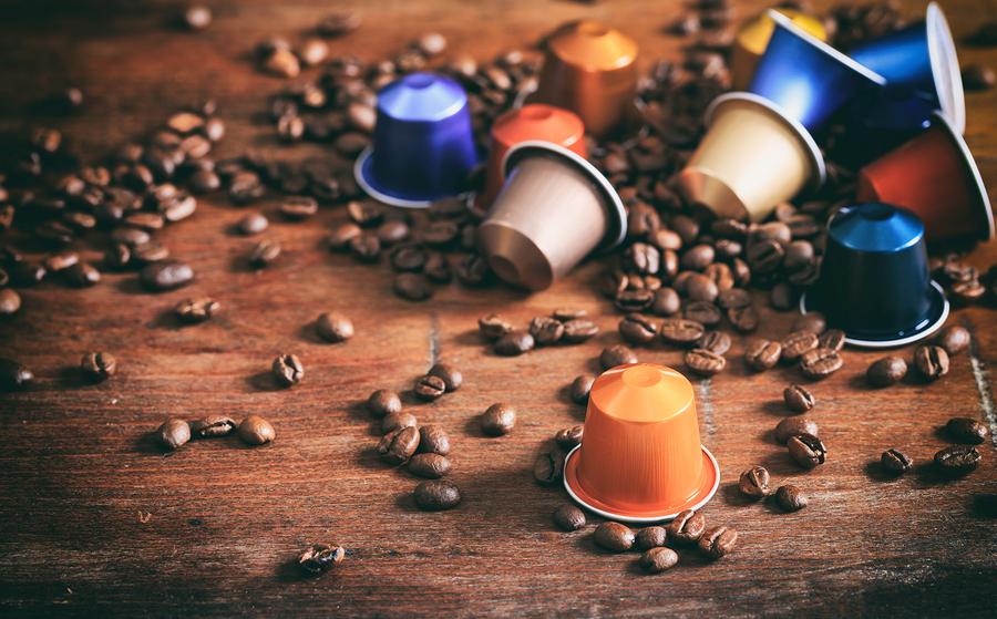 Lahodný nápoj z kávovej kapsuly